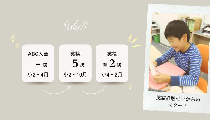 小2・英語経験ゼロスタート→小4で 英検準2級 に合格